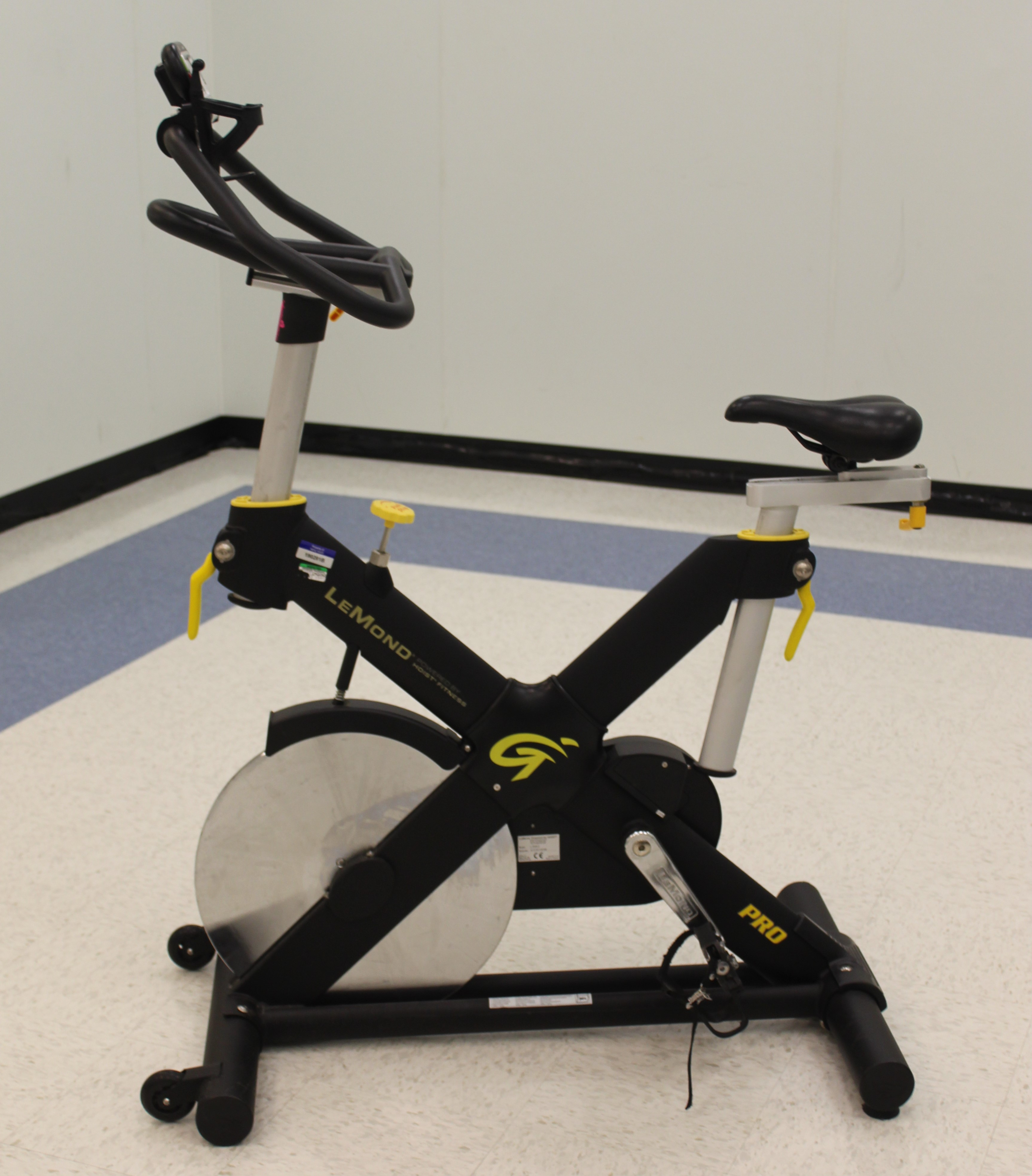 Indoor cycle in group exercise room